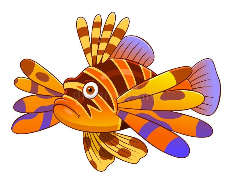 动画片恶魔firefish 库存例证