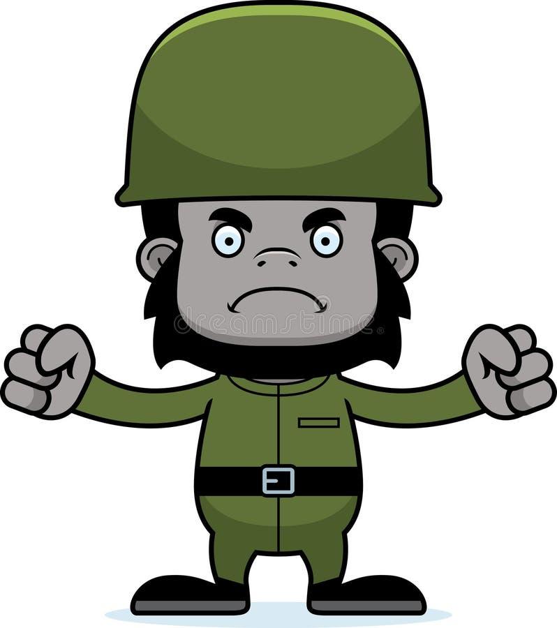 动画片恼怒的战士大猩猩 库存例证