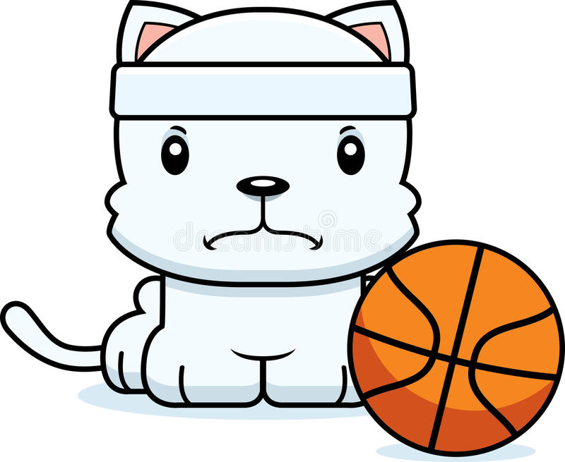 动画片恼怒的蓝球运动员小猫 皇族释放例证