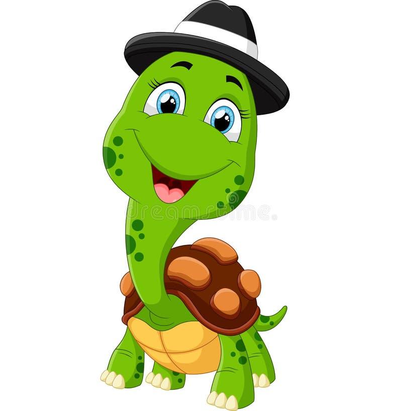 动画片愉快的乌龟 向量例证