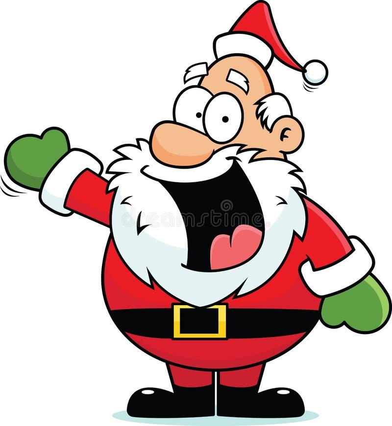 动画片愉快的圣诞老人 向量例证