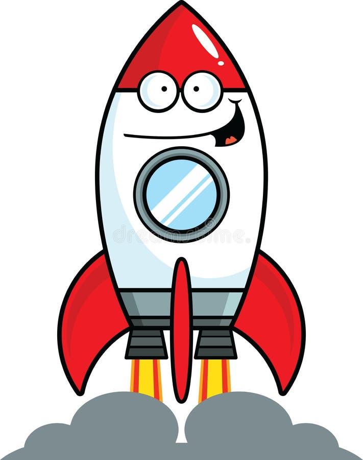 动画片愉快的火箭队 向量例证