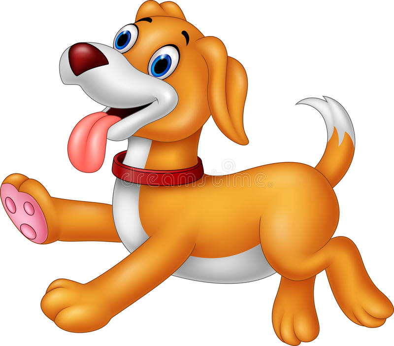 动画片愉快的狗赛跑 向量例证