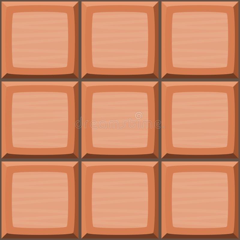 动画片手淹没橙色无缝的装饰瓦片纹理 向量例证