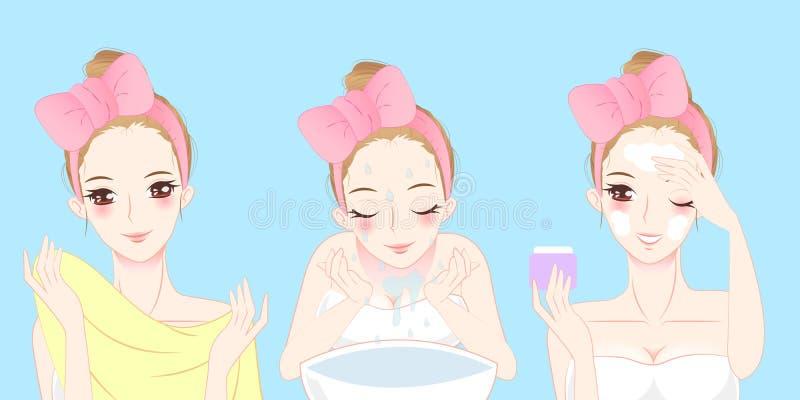 动画片护肤妇女 皇族释放例证
