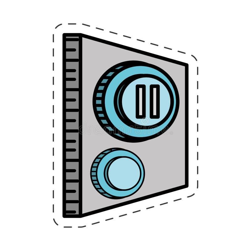 动画片按钮停留控制图象 向量例证