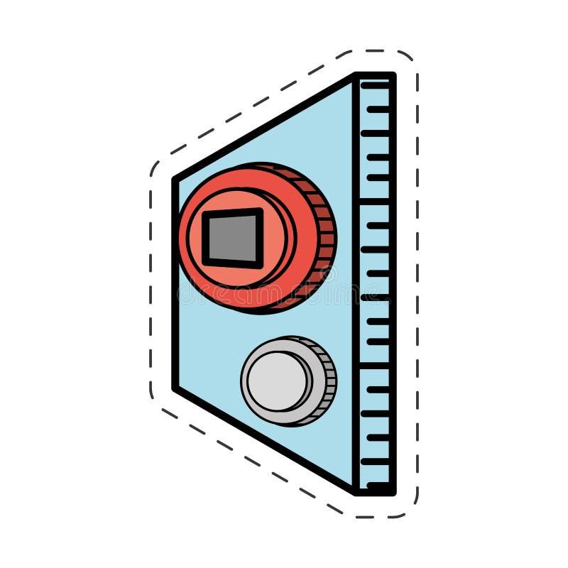 动画片按钮力量起动比赛 库存例证