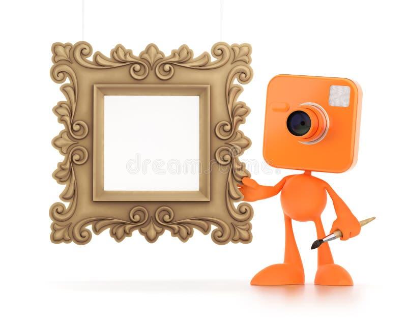 动画片摄影师 向量例证