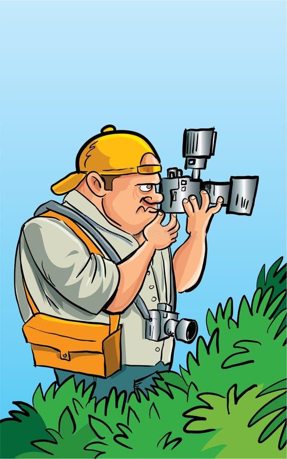 动画片无固定职业的摄影师摄影师 库存例证