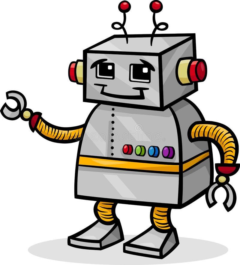 动画片机器人或droid例证 皇族释放例证