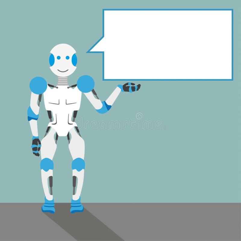 动画片机器人讲话泡影 向量例证