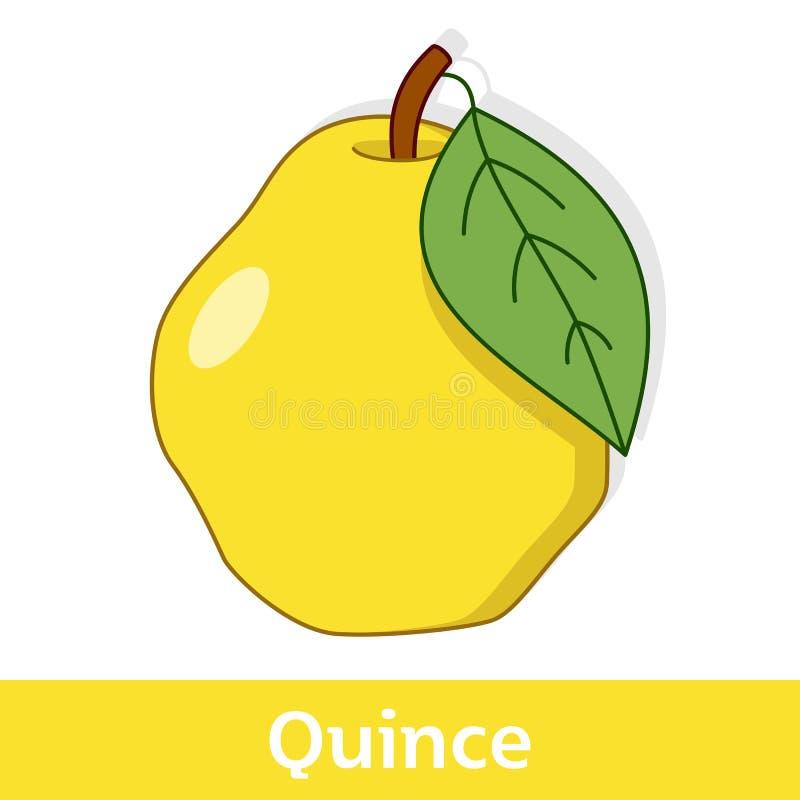 动画片果子-大黄色柑橘 向量例证