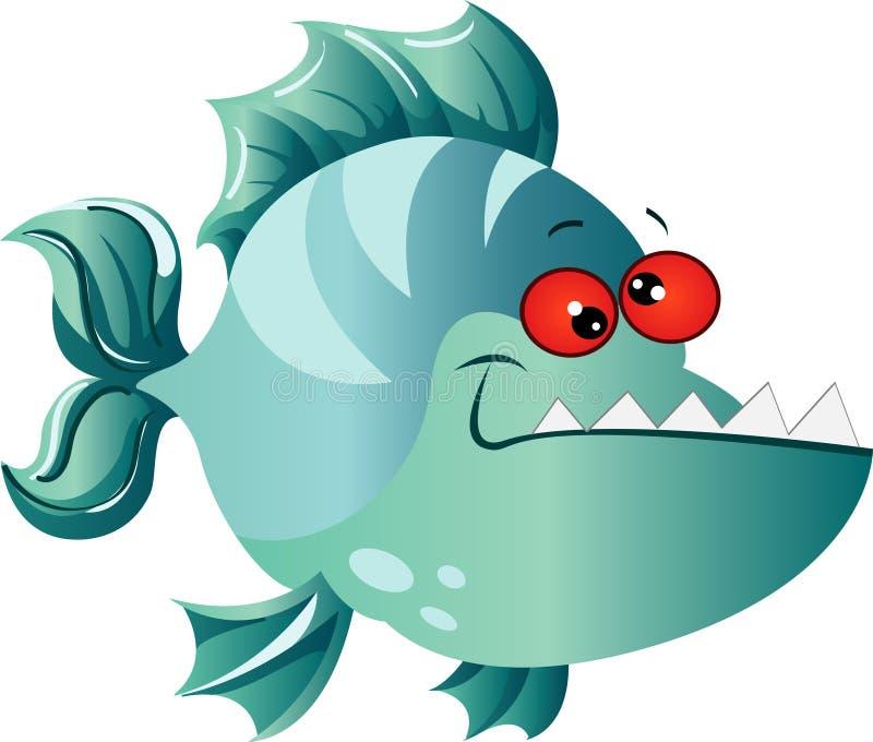 动画片比拉鱼 向量例证
