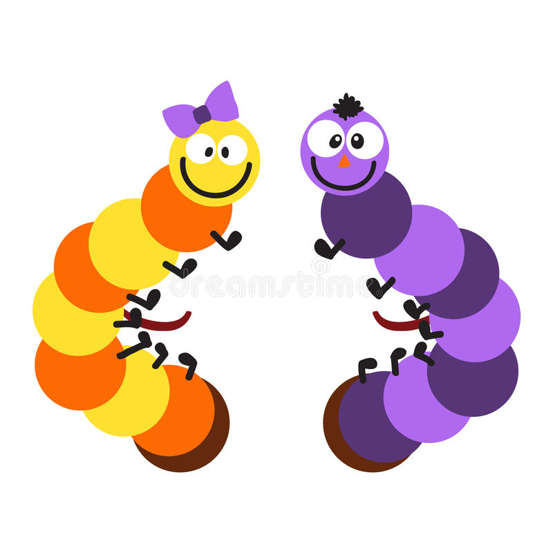 动画片毛虫传染媒介例证 库存例证