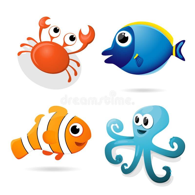 动画片海洋动物 库存照片