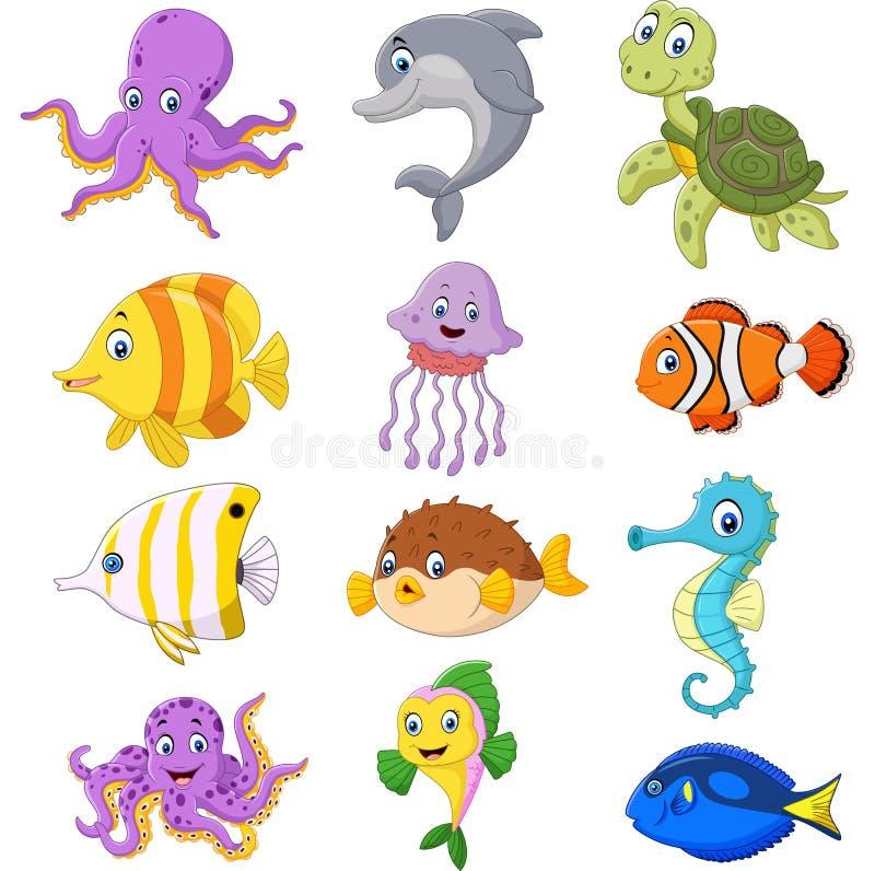 动画片海洋生活汇集 库存例证
