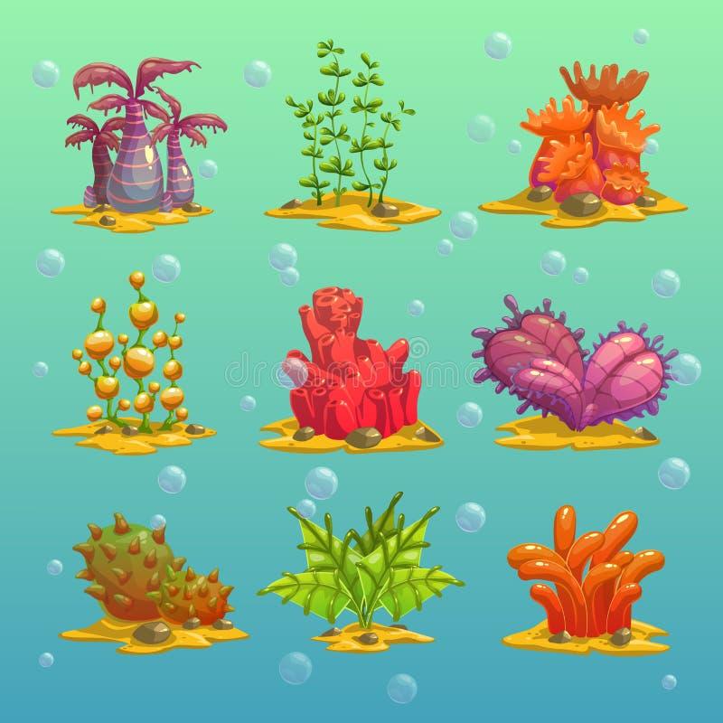 动画片海藻 库存例证