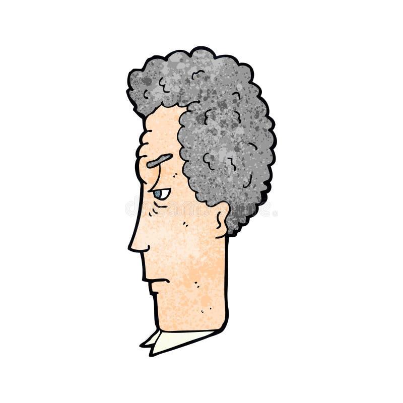 动画片灰发的人 向量例证