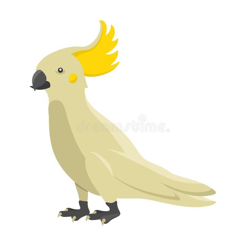动画片热带鹦鹉野生动物鸟传染媒介例证野生生物逗人喜爱的生动的密林俏丽的金刚鹦鹉 向量例证