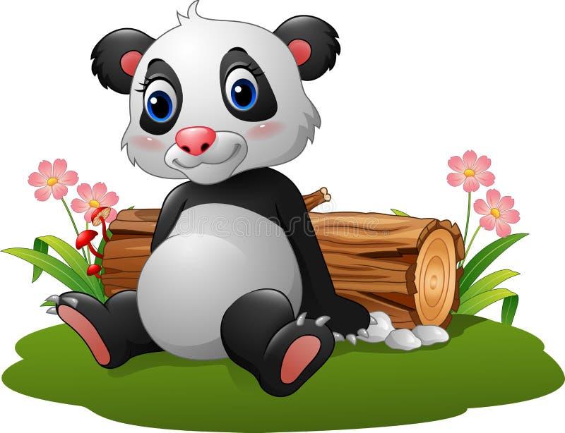 动画片熊猫开会 皇族释放例证