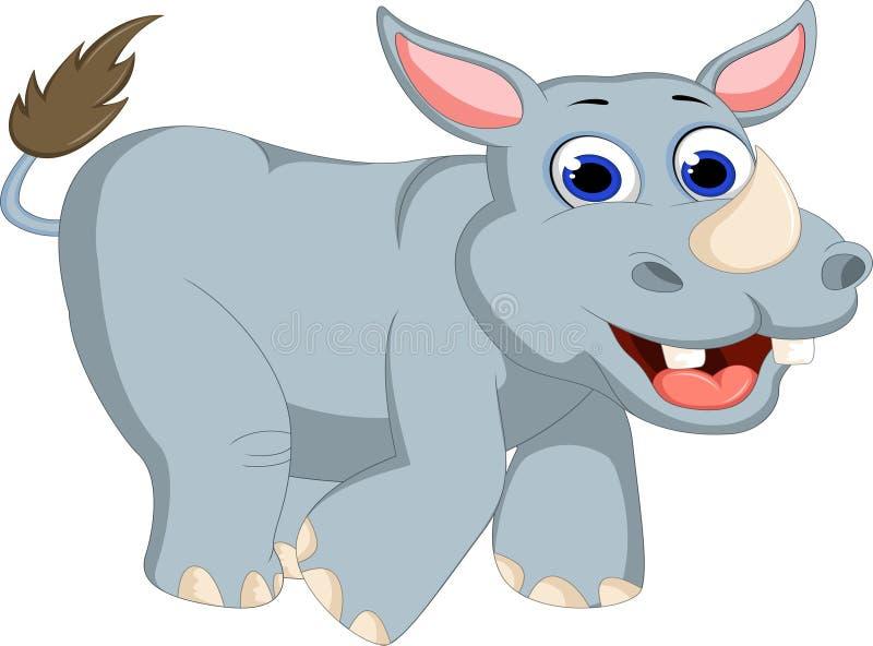 动画片犀牛摆在 库存例证