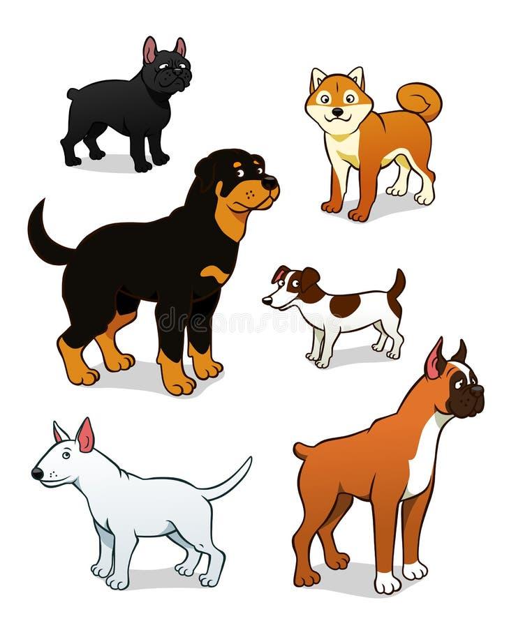 动画片狗设置了两 库存例证