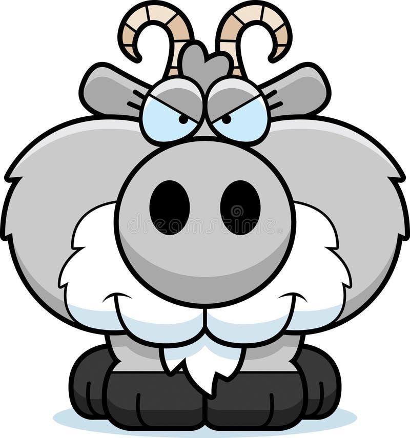 动画片狡猾的山羊 库存例证