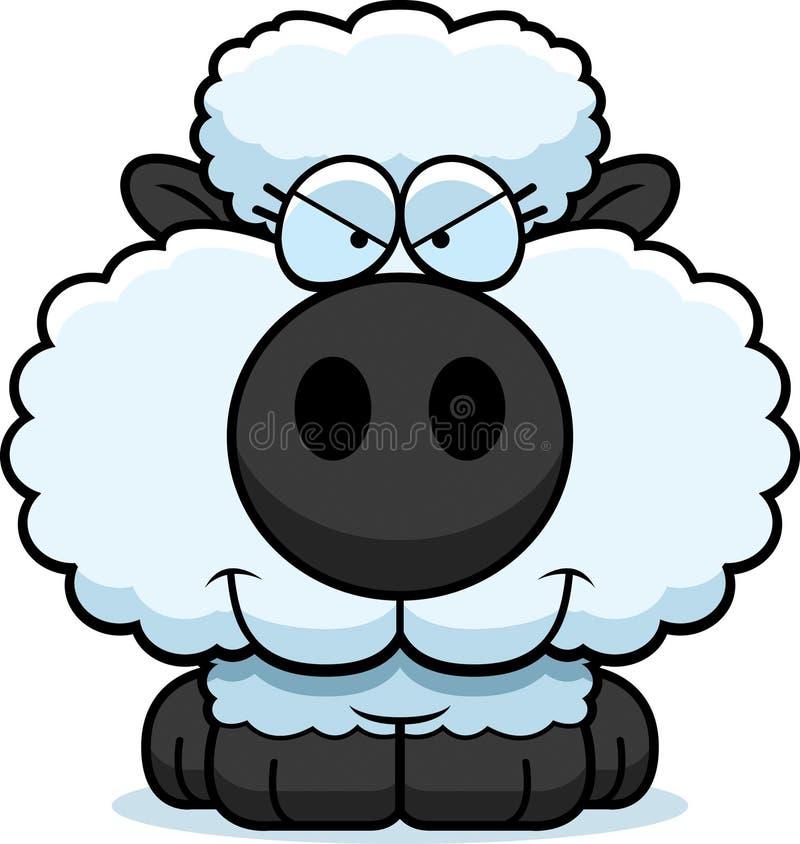 动画片狡猾的羊羔 库存例证