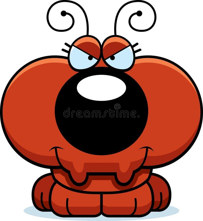 动画片狡猾的蚂蚁 向量例证
