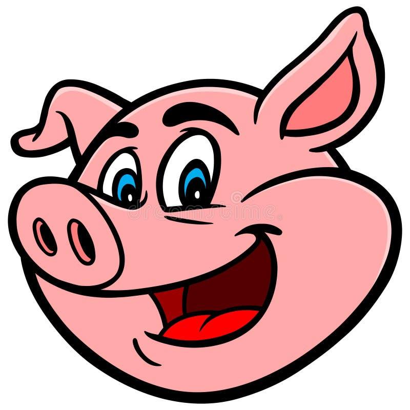 动画片猪 库存例证