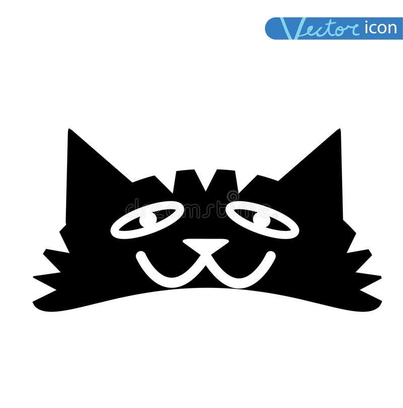 动画片猫传染媒介例证 投反对票 库存例证