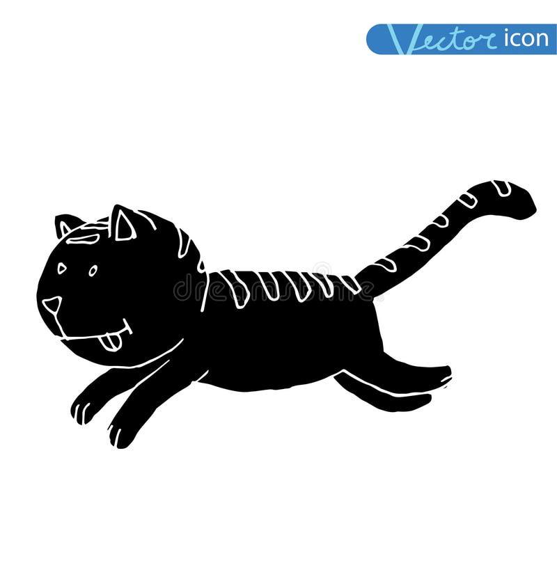 动画片猫传染媒介例证 投反对票 皇族释放例证