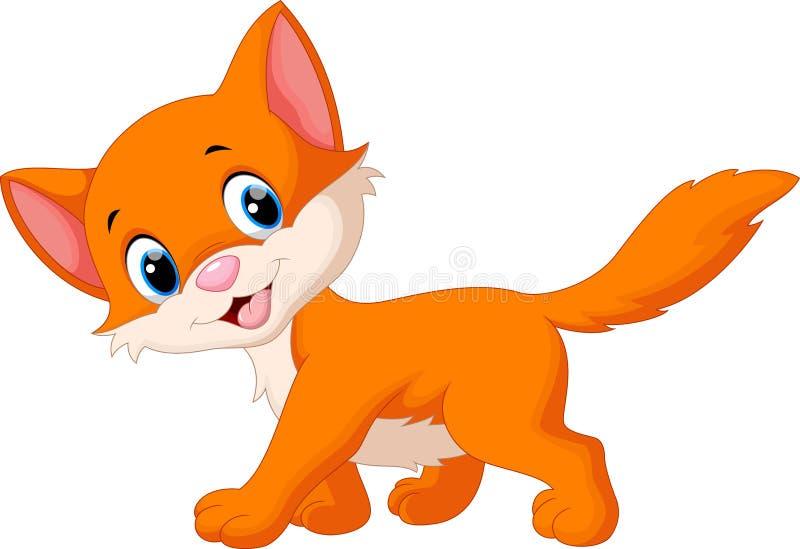 动画片猫逗人喜爱的例证向量 皇族释放例证