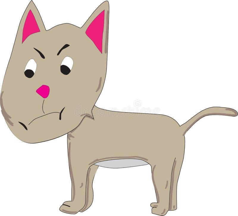 动画片猫 库存例证