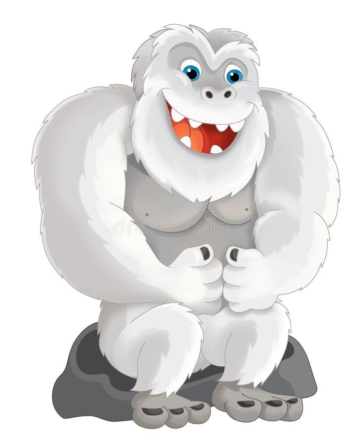 动画片猿喜欢雪人 向量例证