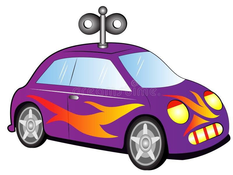 动画片玩具汽车 皇族释放例证