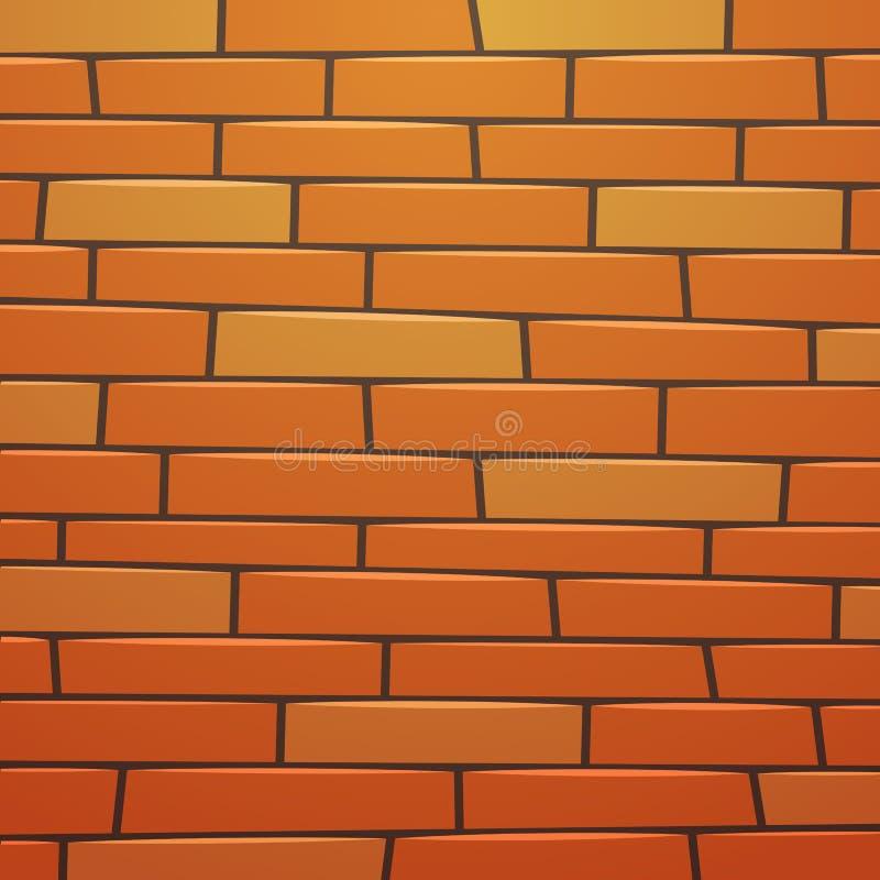 动画片砖墙 向量例证