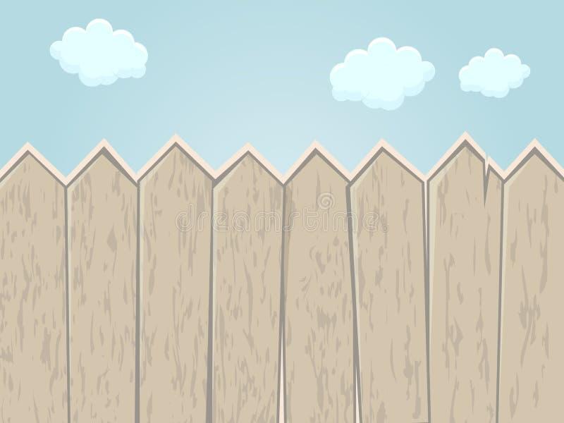 动画片篱芭 向量例证