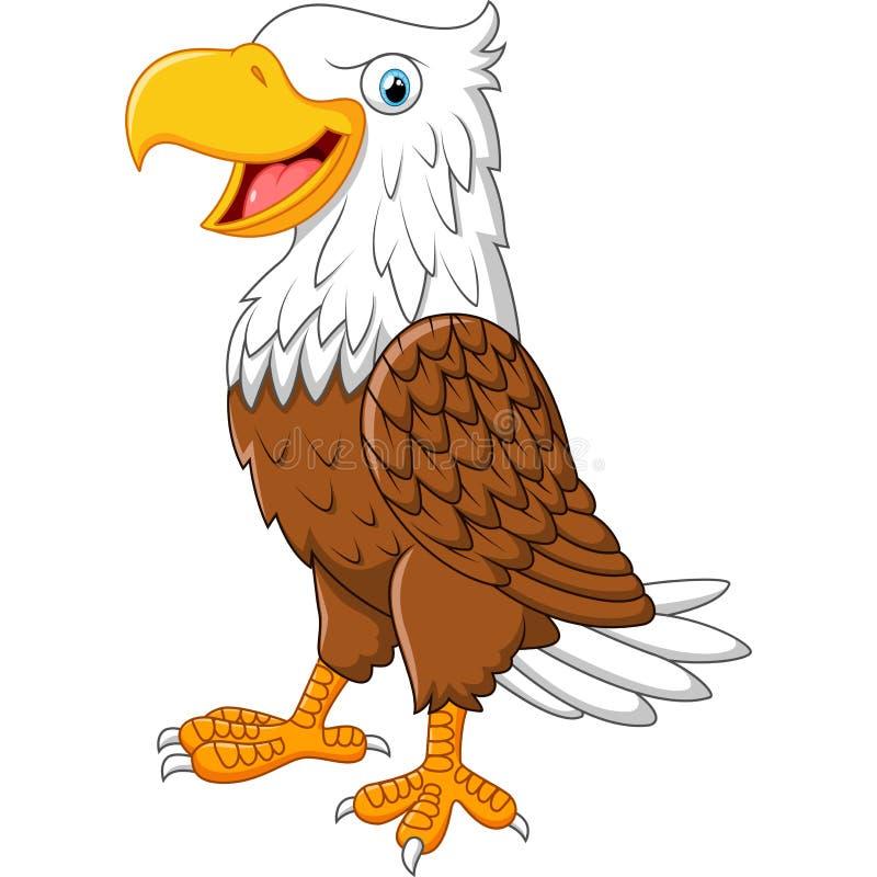 动画片老鹰摆在 皇族释放例证