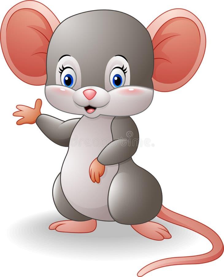 动画片老鼠挥动的手 皇族释放例证