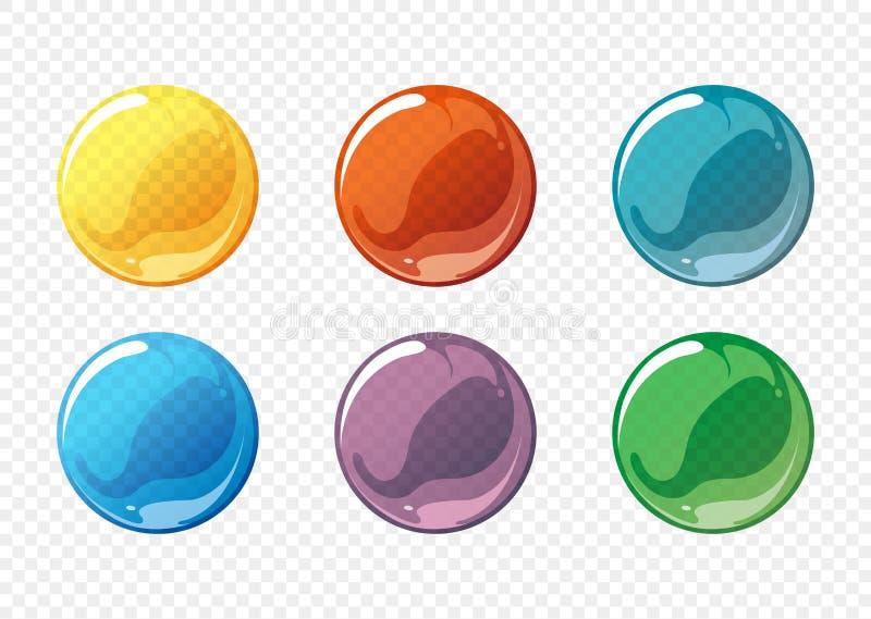 动画片肥皂泡传染媒介集合 库存例证