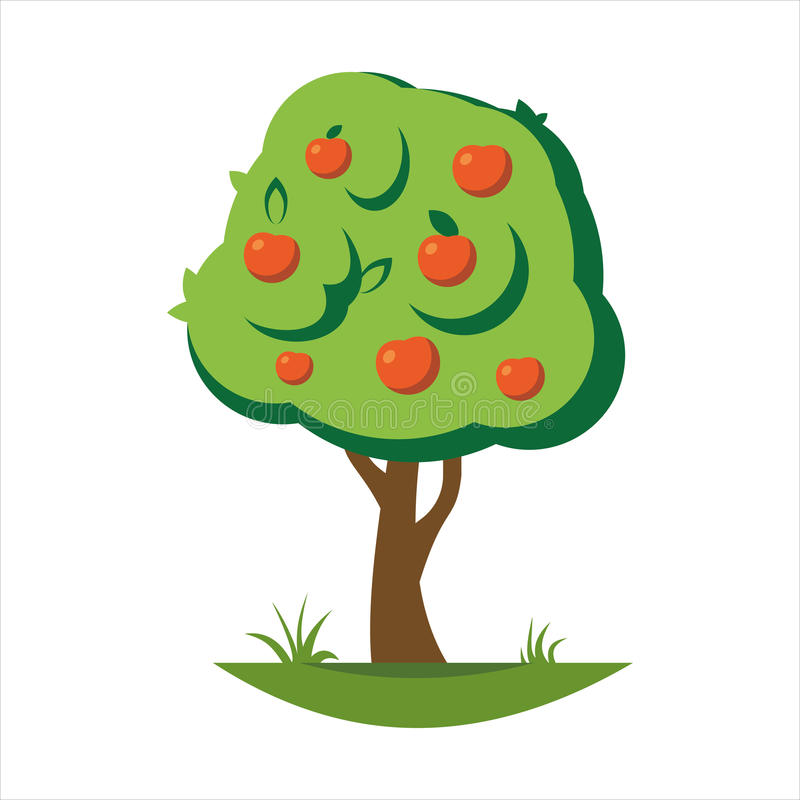 动画片苹果树传染媒介例证图片
