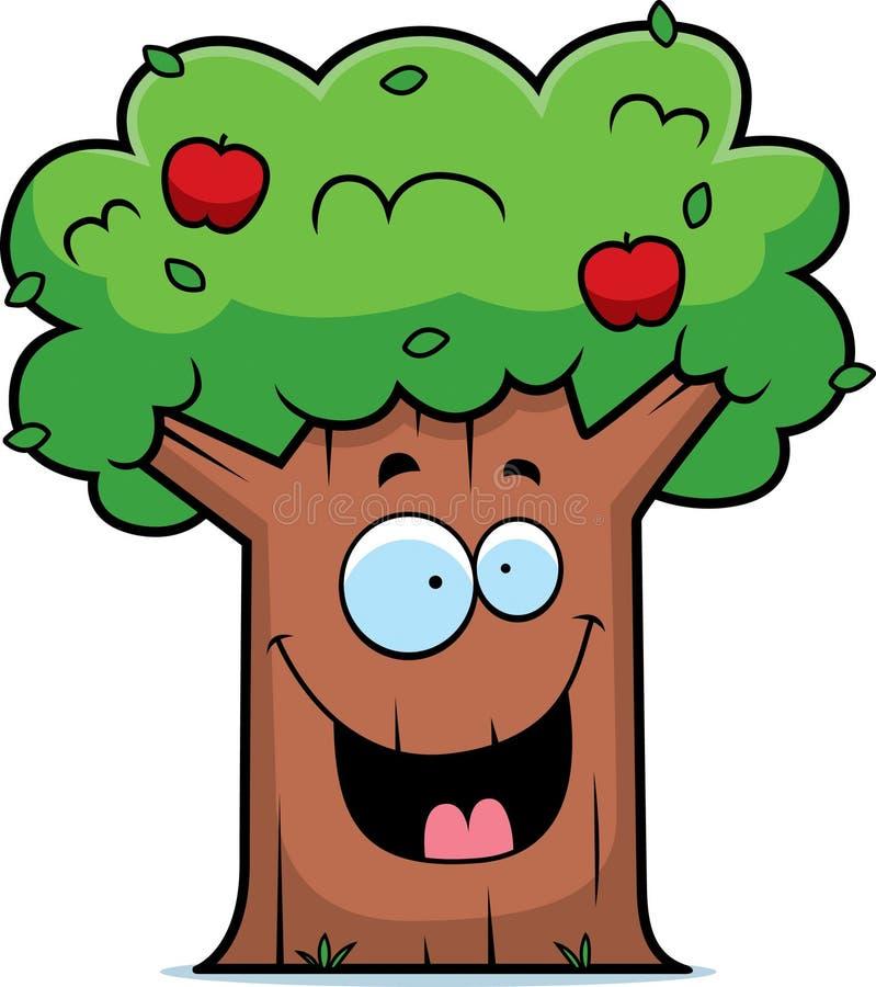 动画片苹果树 库存例证