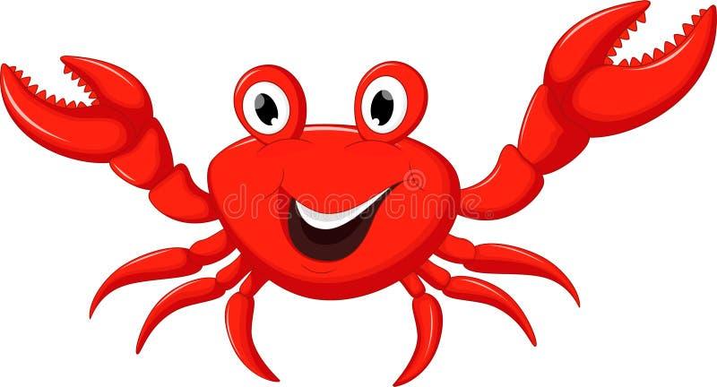 动画片螃蟹滑稽的例证向量 皇族释放例证
