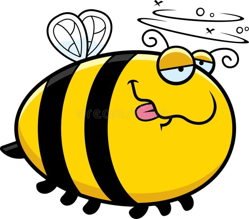 动画片被喝的蜂 向量例证