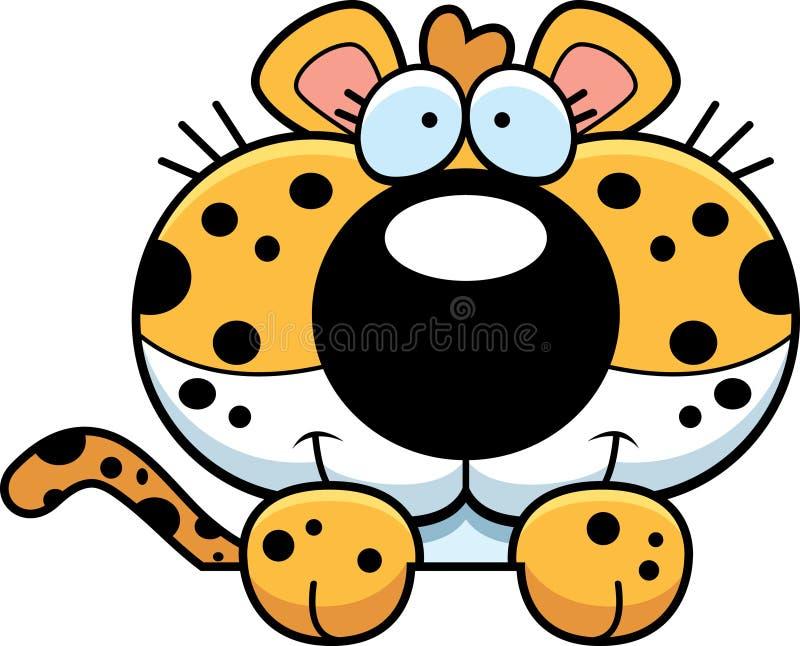 动画片豹子偷看 库存例证