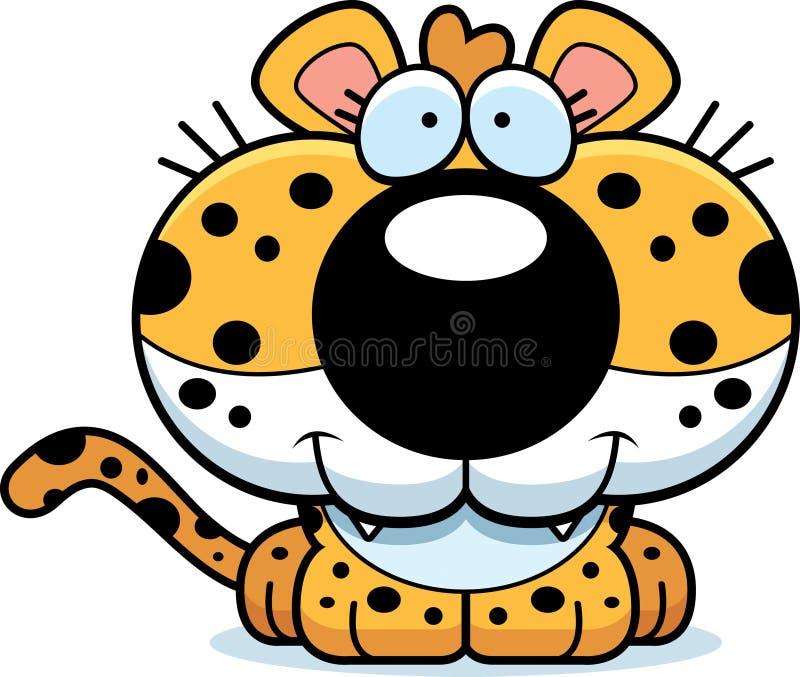 动画片豹子微笑 皇族释放例证