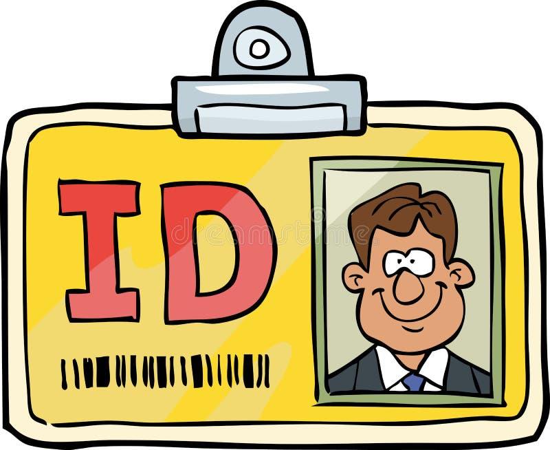 动画片身份证 向量例证