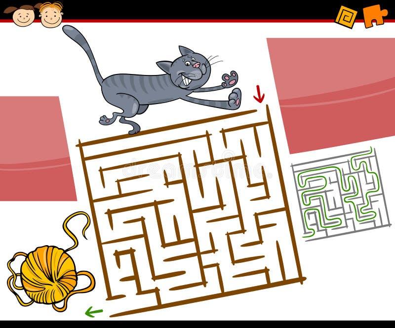动画片迷宫或迷宫比赛 皇族释放例证