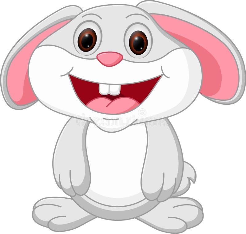 动画片逗人喜爱的兔子 向量例证